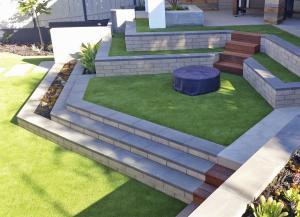 OmegaTurf brickwork landscaping